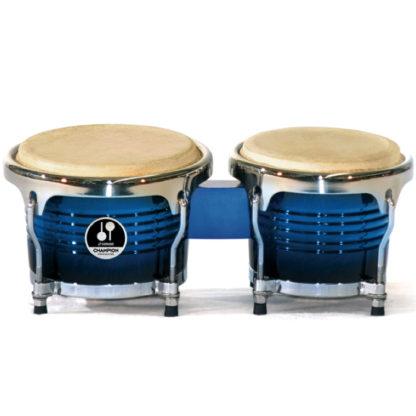 Et sæt blå bongotrommer til store børn