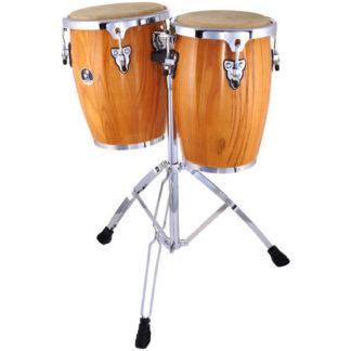 To træfarvede trommer