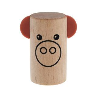 shaker i træ udformet som en sød lille gris