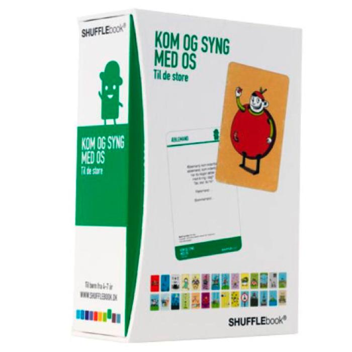 Børnesangbog til de store som boks med kort