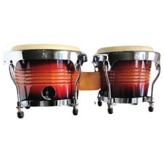 kvalitetstromme. to bongoer i 7 og 8 tommer rød