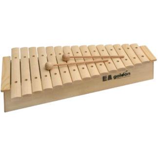 en stor xylofon med to trækøller og en stor klangkasse