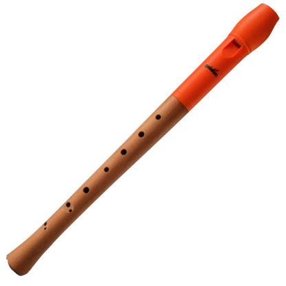 sopranblokfløjte med orange mundstykke
