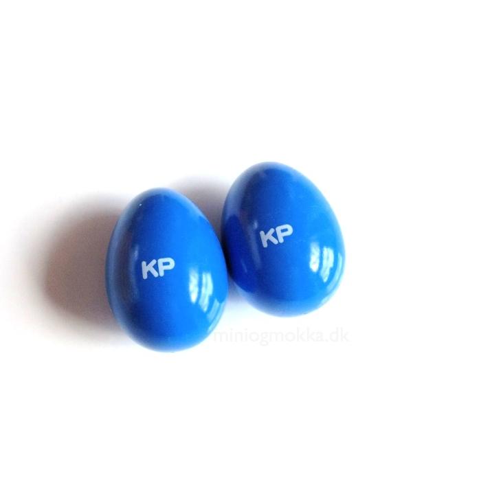 rytmeæg 2 styk blåfarvede