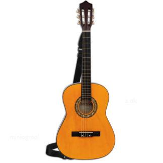 spansk guitar i træ med rem