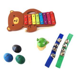 Adventsgaver til drenge med musikinstrumenter og musiklegetøj