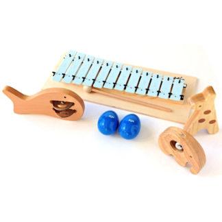 Eksklusiv adventskalender med musikinstrumenter til små drenge