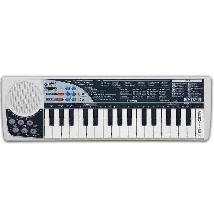 minikeyboard med masser af lyde rytmer og dj effekter. godt instrument