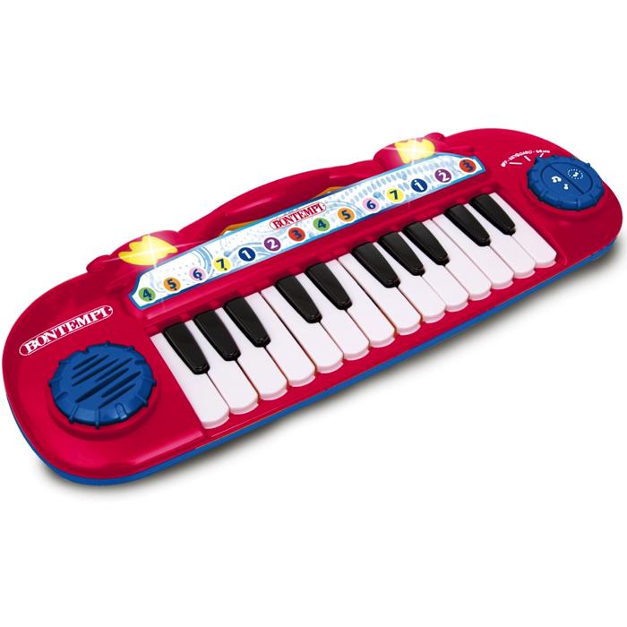 rødt legetøjskeybord