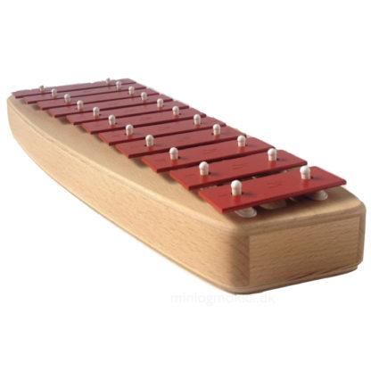 metal xylofon med træramme