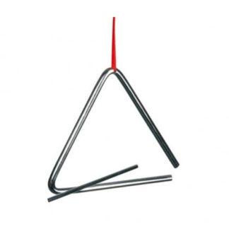 Stor triangel i metal incl. trommestik