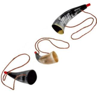 3 forskellige vikingehorn kazoos