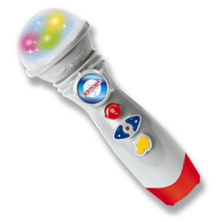 mikrofon i hvid plast med effekter