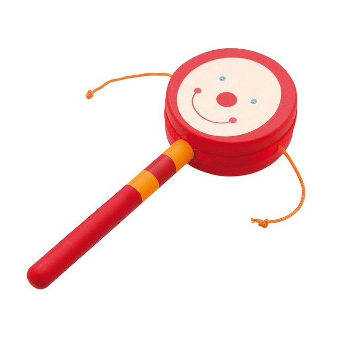 Legetøjstromme i rød med håndtag