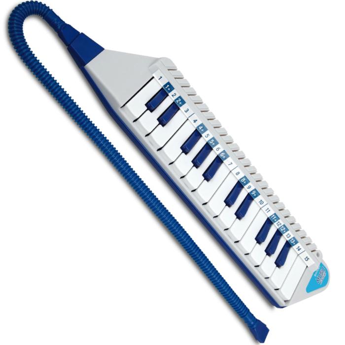 grå og blå melodika fra bontempi