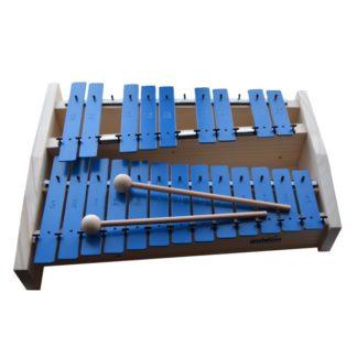 Finstemt altklokkespil i blå