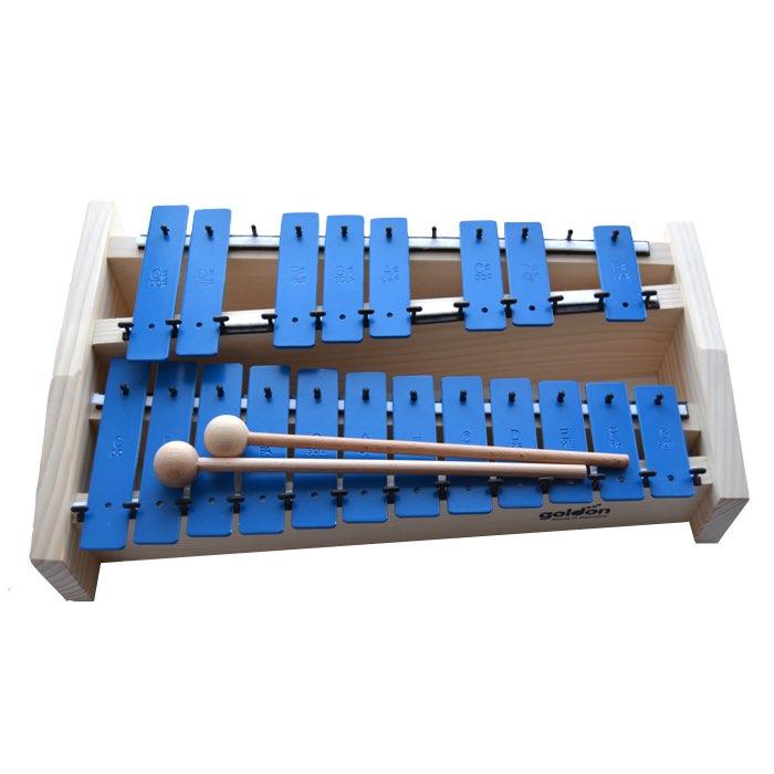 Finstemt kromatisk sopranklokkespil i blå