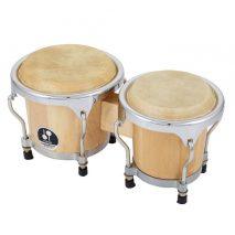 2 bongotrommer i træ