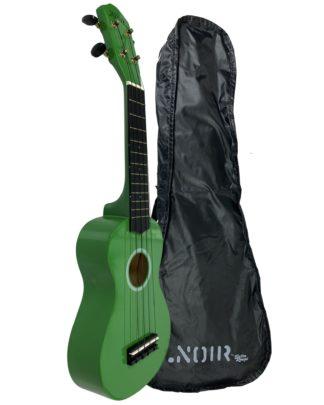 sopranukulele i grøn inkl ukulelepose