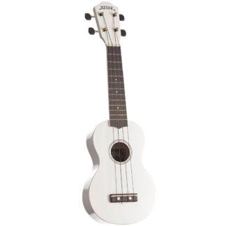 Hvid ukulel af træ