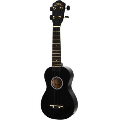 sort ukulele med transportpose