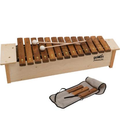 Prfessionel xylofon med køller og taske samt ekstra klangstave fra Goldon