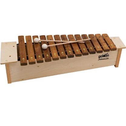 1 stk Goldon professional line xylofon med to 30 mm filtkøller