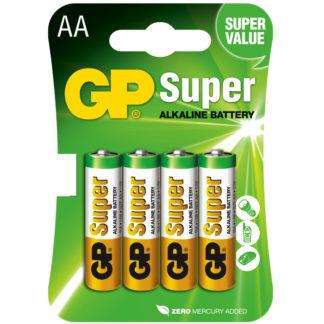 4 stk aa batterier 1,5 v