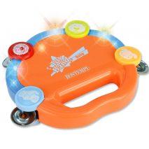 Orange tambourin til børn fra halvandet