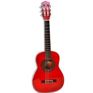 lille rød guitar til børn 5+