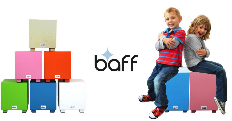 Baff logo og udvalg af børne cajon