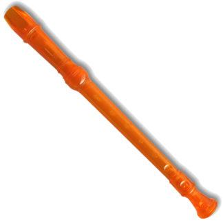 gennemsigtig blokfløjte i orange