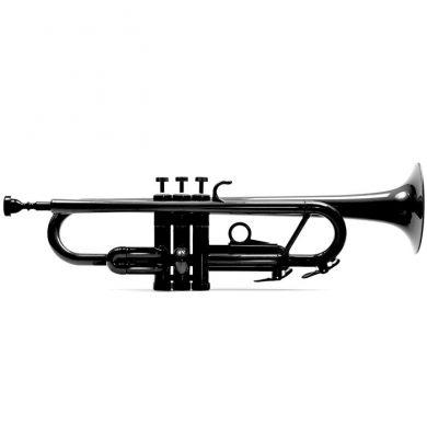 Begynder-trompet i sort plastik