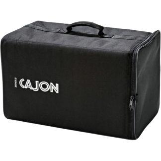 Sort bæretaske og rygsæk til cajonner