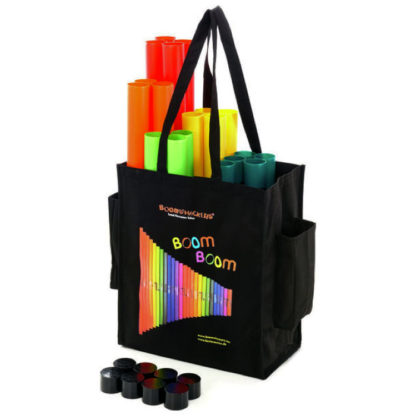 taske med 28 boomwhackers og oktavrør