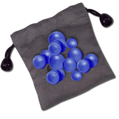 blå fingerknapper til at personliggøre din nuvofløjte