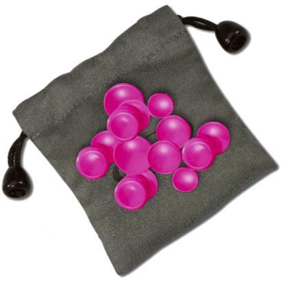 fløjteknapper i rosa