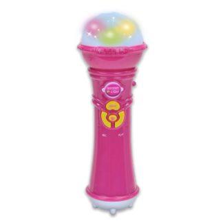 Pink legetøjsmikrofon