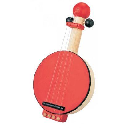 Lille rød banjo i træ