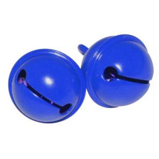2 stk blå bjælder til montering