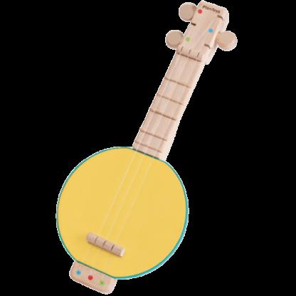 Lille gul banjo-ukulele i træ