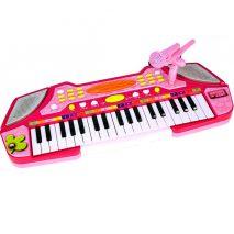 pink keyboard med mikrofon