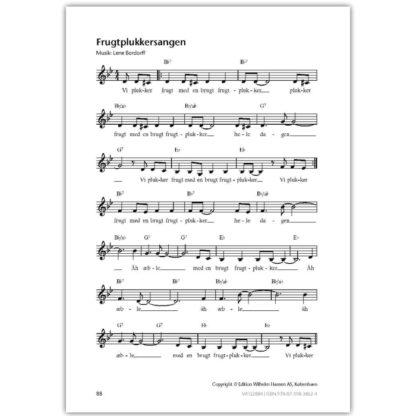 nodeeksempel på sang i bogen musikalsk legestue