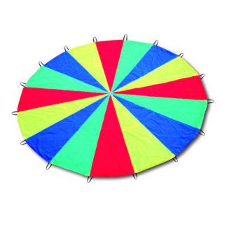 Rytmik faldskærm i alle regnbuens farver