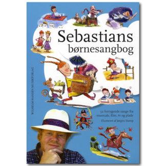 sangbogens forside med illustrationer fra børnesangene