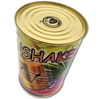 shakerinstrument i form af en corsevesdåse
