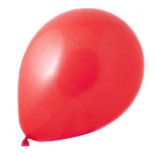 rød ballon i pakke med 50 balonner i blandede farver