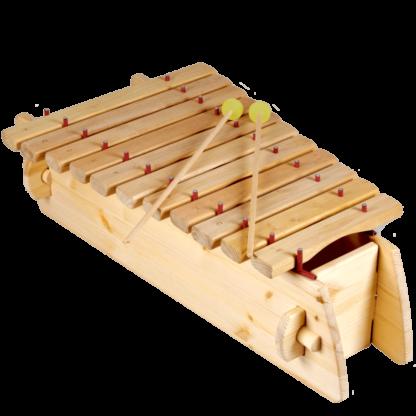 Marimba i træ med 11 toner - diaton
