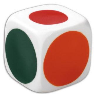 Stor boomwhackers terning med farver i stedet for tal