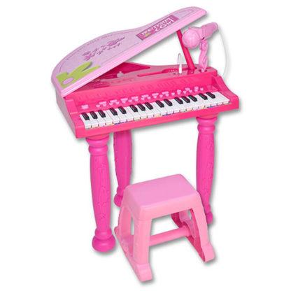 Legetøjs-flygel i pink med 31 tangenter